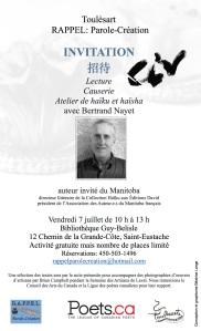 invitation haiku et haisha 2 7juillet