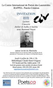Invitation haiku et haisha 6 juillet2017