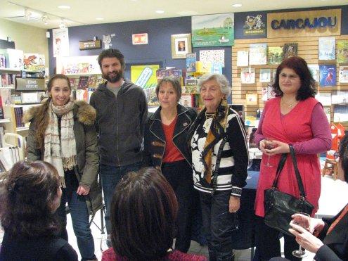 De gauche à droite: Audrey Gaussiran, Philippe Merrizi, Nancy R Langes, Hélène Perras et Cristina Montescu; tous faisant partie de la programmation 2020 du RAPPEL.